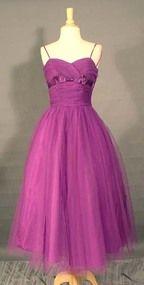 RADIANT Violet Tulle 1950's Prom Dress