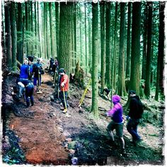 Who are these mysterious people?  They are the ones who give us trails to ride.  Join a build day and become a mysterious person yourself.