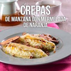 Video of Apple Crepes with Orange Marmalade - Videos de recetas - Mexican Food Recipes, Sweet Recipes, Dessert Recipes, Crab Recipes, Tasty Videos, Food Videos, Easy Cooking, Cooking Recipes, Cooking Torch