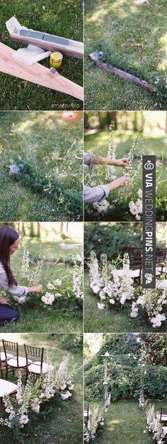 DIY Wildflower Aisle Wedding Ideas via | VIA #WEDDINGPINS.NET