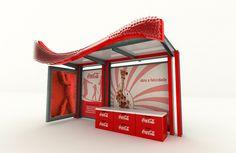 Coca-Cola Bus stop on Behance