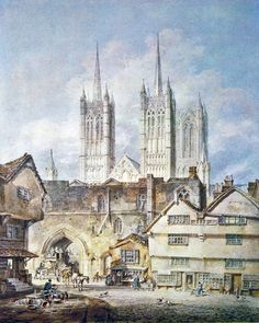 Cathedral Church at Lincoln, 1795. Joseph Mallord William Turner