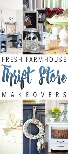 Fresh Farmhouse Thrift Store Makeovers   The Cottage Market   Bloglovin'