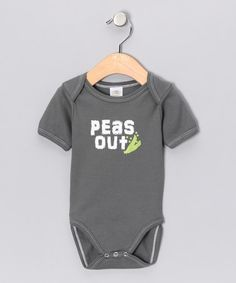 Take a look at this Gray 'Peas Out' Organic Bodysuit - Infant by Urban Smalls on #zulily today!