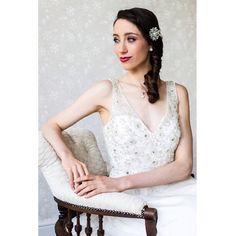 Karen Elizabeth beaded silk gown 2015 wedding dress