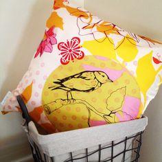 LukaMish cushion #bird #chevron http://www.facebook.com/LukaMish