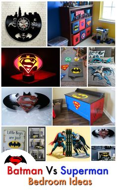 It doesn't matter if you choose sides. Check out these Batman vs Superman Bedroom Ideas that will have you feeling like your favourite character in no time. Superman Room, Superhero Room, Batman Vs Superman, Batman Bedroom, Marvel Bedroom, Kids Bedroom, Bedroom Ideas, Creative Activities, Awesome Bedrooms
