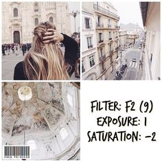 VSCO Cam Filter Settings for Instagram Photos | Filter F2  Pale Wash-Out Effect