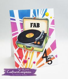 Sheena's Groovin' line is releasing tomorrow! Check out the card I created with the beautiful stencil and stamp set f. Musical Cards, Sheena Douglass, Crafters Companion, All Paper, Masculine Cards, Diy Cards, Birthdays, Card Making, Paper Crafts