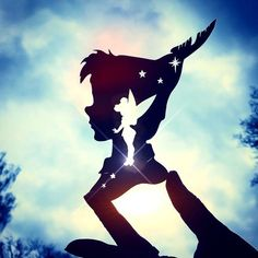 ~All you need is faith, trust and a little fairy dust~✨🧚🏼♂️✨ Peter Pan & Tink hand cut by me from paper, with Tinkerbell And Friends, Peter Pan And Tinkerbell, Peter Pan Disney, Tinkerbell Disney, Arte Disney, Disney Magic, Disney Art, Peter Pan Silhouette, Silhouette Art