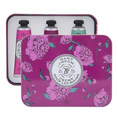 La Chatelaine 20 Shea Butter Hand Cream Tin Gift Box Rose Blossom Wild Fig Winter Flower >>> Continue to the product at the image link.