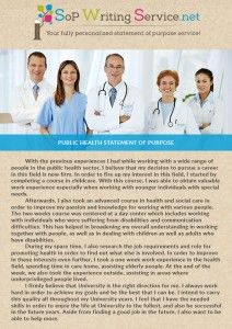 public health statement of purpose  sopwritingservice  pinterest  public health statement of purpose