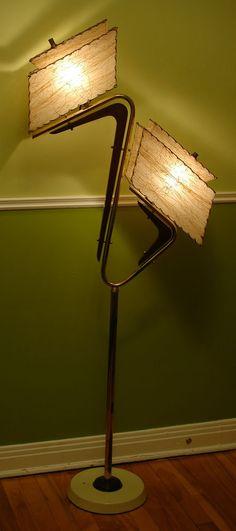 SUPERB Vtg Mid CENTURY Modern 1950s Retro ATOMIC Majestic BOOMERANG Z Floor LAMP
