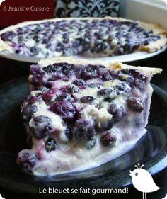 Jasmine Cuisine: Tarte aux bleuets et à la crème