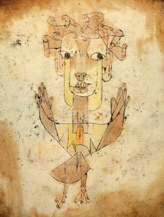Angelus Novus, Paul Klee The looking backwards prophet, angel of history, judging looking back and living forwards. Walter Benjamin - concepts of history