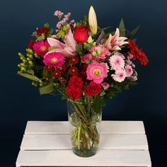 Send flowers or flower gift sets to someone special today. Send Flowers Online, Same Day Flower Delivery, Dublin, Floral Arrangements, Bouquets, Red And White, Ireland, Glass Vase, Artisan