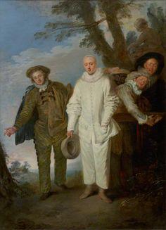 The Italian Comedians, Jean-Antoine Watteau, about 1720. The J. Paul Getty Museum