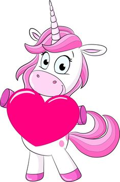 Unicorn with a pink heart!!