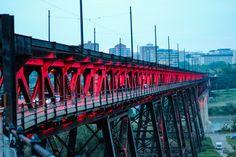 High Level Bridge Lights Art Print