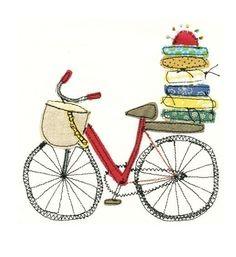 Quilters bike - art print