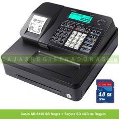 cajasregistradoras.com les ofrece la Caja Registradora Casio SE-S100 SB con tarjeta SD de 4GB de Regalo x solo 199€ IVA incluido.
