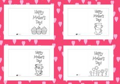 Twinkl Resources >> Mother's Day Colouring Cards Templates >> Thousands of printable primary teaching resources for EYFS, KS1, KS2 and beyond! Mother's Day, Gifts, Crafts, Cards, Colouring