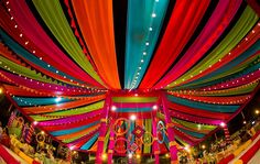Indian wedding backdrop ideas Colorful Mela themed Colorful woollen thread hanging for the wedding Mehndi decor Vibrant and Indian Wedding Theme, Desi Wedding Decor, Indian Theme, Wedding Stage Decorations, Wedding Mandap, Wedding Themes, Wedding Mehndi, Wedding Ideas, Indian Weddings