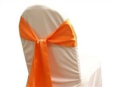 Chair Sash (Satin) - Orange 5pk – Kaydella