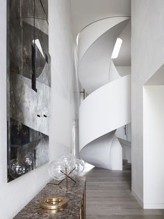 Arc Side by Jolson Architecture and Interiors Australian Interior Design, Interior Design Awards, Modern Interior, Modern Furniture, Architecture Details, Interior Architecture, Polished Plaster, Balustrades, Concrete Facade