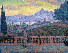 The Terrace, Saint-Tropez, 1898. Paul Signac