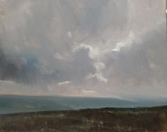 ARTFINDER: Near Rosedale in the North Yorkshire ... by Malcolm Ludvigsen - I painted this 30x24'' oil on canvas above Rosedale in the North Yorkshire Moors on a cold, cloudy, grey day.  It's a proper plein-air painting - painted on ...