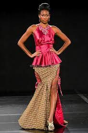 fashionable african dresses - Satin & Capulana