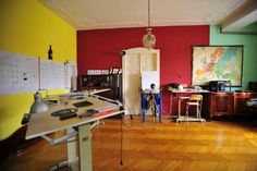Tipton Budapest studio decorated with huge