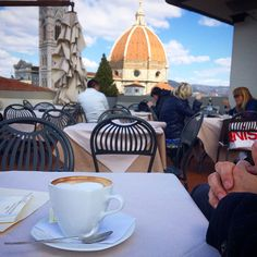 Afternoon cappuccino in Firenze looking at the Duomo. Love Birds, Florence, Italy, Places, Italia, Florence Italy, Lugares