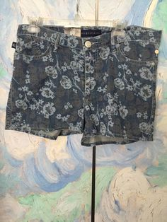 ROCK & REPUBLIC 14 NEW DENIM BLUE/GRAY LADY OF THE DEAD COTTON 5 POCKETS…