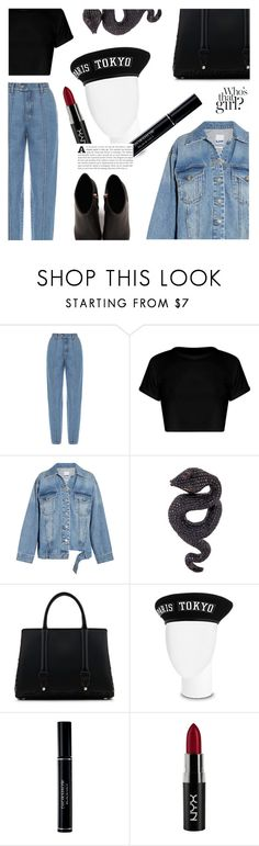 """""""I love you and,"""" by sugaplump ❤ liked on Polyvore featuring Ksenia Schnaider, Steve J & Yoni P, Lydia Courteille, La Perla, Christian Dior, NYX, Alexander Wang and beret"""