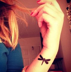 Small dragonfly tattoo on wrist- 50+ Dragonfly Tattoos for Women | Showcase of Art & Design