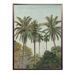 Palm Tree Print, Palm Trees, England Houses, Copper Frame, Paper Frames, Modern Bohemian, Wall Prints, Framed Art, Projects To Try