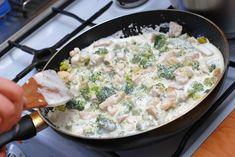 Kuracie soté s brokolicou a syrom