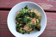 BROWN BUTTER CHICKEN WITH BROCCOLI RABE ~ Broccoli rabe is a relative of broccoli, but it has a stronger flavor. If your family doesn't enjoy it, you can substitute regular broccoli, broccolini, or even green beans in this dish.
