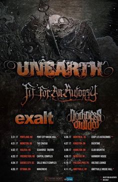 6 April 2017 -Unearth -Fit For An Autopsy -Darkness Divided