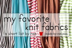 my favorite knits and where to buy