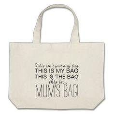 Mum's Bag Large Shopping Tote for Mum - accessories accessory gift idea stylish unique custom