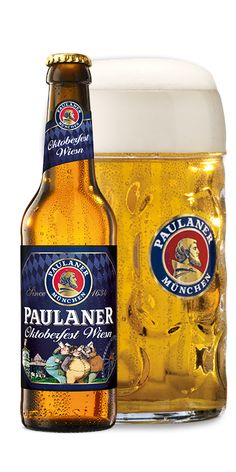 This golden Oktoberfest lager is the only beer served in Paulaner Oktoberfest tents today. It also happens to be the best-selling Oktoberfest beer in Germany. More Beer, Wine And Beer, Paulaner Oktoberfest, German Beer Brands, Paulaner Bier, Premium Beer, Beers Of The World, Beer Festival, Best Beer
