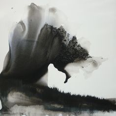 - Confluences by Muriel Napoli Dark Drawings, Art Drawings For Kids, Charcoal Drawings, Drawing Ideas, Drawing Tutorials, Pencil Drawings, Abstract Nature, Black Abstract, Abstract Art