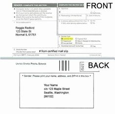 Ps Form 3811 Template Fresh 27 New Usps Certified Mail Receipt Free Download Photography Pricing Guide Template Templates Pricing Guides Templates
