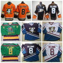 b27c502e4 Anaheim Ducks Hockey Jerseys  8 Teemu Selanne White Jersey Mighty Ducks  Vintage CCM Purple Teemu