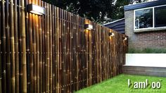 Gentil Best Bamboo Fencing For Garden And Outdoor Design: Outdoor Design And Bamboo  Fence Panels For Bamboo Fencing With Garden Lighting Also Lawn And Box  Planters ...