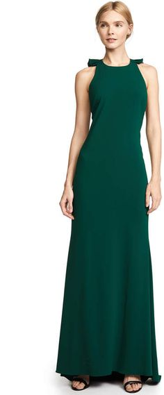 1376e6034c Badgley Mischka Collection Ruffle Back Gown