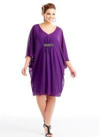 фасоны платьев для полных женщин маленького роста с животом6